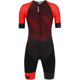 Santini Imago SS Trisuit Men, red